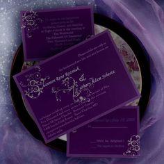 Beautiful Decorative Pattern Wedding Invitations AUS018