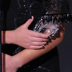 Adèle Exarchopoulos chose an inky black nail color at the Critics' Choice Awards