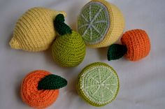 My crocheted fruits