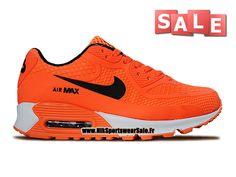 b082b23d62739 Nike Air Max 90 KPU (PS) - Chaussure Nike Sportswear Pas Cher Pour Petit  Enfant (Taille 28-35) Orange total Noir Blanc 724872-005iD
