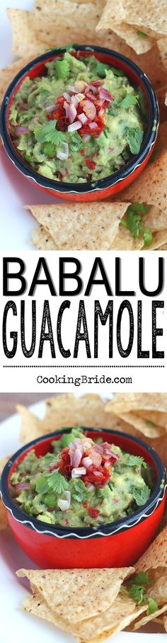 Recipe for Babalu guacamole made table side at Babalu Taco and Tapas retaurants.  Fresh Hass avocados are combined with sun dried tomatoes, red onion, cilantro, and lime juice.