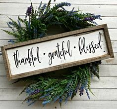 Thankful Grateful Blessed | Fall Sign | Pallet Sign | Pallet Wood Sign | Fall Decor | Thanksgiving | Farmhouse Home Decor | Farmhouse Sign by EMPalletDesigns on Etsy https://www.etsy.com/listing/539176325/thankful-grateful-blessed-fall-sign