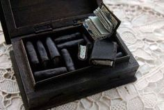 The Miniature Blue Library Set of 15 Mini Dark di bibliographica, $225.00
