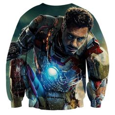 Just Otaku Things - A Piece Of Your Childhood Avengers Superheroes, Superhero Characters, Marvel Comics, Best Superhero, Captain Hook, Tony Stark, Printed Sweatshirts, Wearable Art, Iron Man