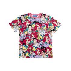 東京ディズニーリゾート リトルマーメイド  総柄 Tシャツ S〜LL