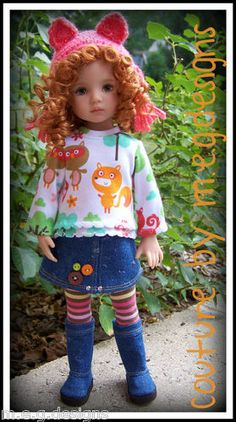 """Trendy Togs with Boots for Dianna Effner 13"""" Little Darlings by M E G Designs 