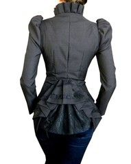 Puffed Sleeves, plaited peplum and lace