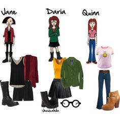 """Costumes 2013 - 2"" by jessicaleila on Polyvore.... maybe one year I'll try Daria again. With friends and with longer hair. Lol"