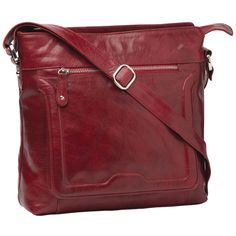 Cobb & Co Rose Leather Cross Bodybag: Red - $140.00 #travelbags #crossoverbags #leatherbags