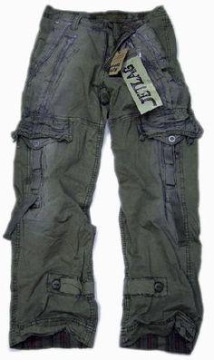 Jet Lag JetLag cargo trousers Donny olive: Amazon.co.uk: Clothing