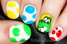 Image via   Cartoon Nail Art Designs