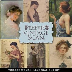 Freebies vendimia de la mujer Ilustraciones