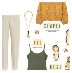 """""""""""Be strong. Live honorably and with dignity. When you don't think you can, hold on."""" -James Frey, A Million Little Pieces"""" by are-you-with-me ❤ liked on Polyvore featuring dVb Victoria Beckham, Giannico, Gerard Yosca and Bottega Veneta"""