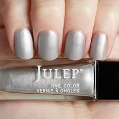 Julep's Jo is a Brushed Silver Matte Metallic nail color. It's weird not having that shine!  Julep polish is made to love your nails!