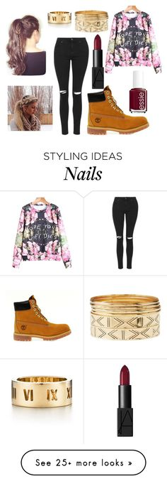 """#whenuhatesomeone"" by eminejumeri on Polyvore featuring Topshop, Timberland, NARS Cosmetics, Essie, Tiffany & Co. and Charlotte Russe"