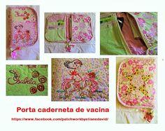 Porta caderneta de vacina com zíper. Artesã Eliane David. Curitiba-Paraná.