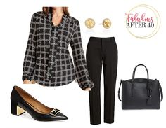 Bow tie blouses are fashionable around the office this fall, but the latest and greatest are Tie-Neck blouses. Take a Look at these Chic Tie-Neck blouses, and how to wear them to look wow at work. Business Chic, Business Fashion, White Outfits, Fall Outfits, Orange Pencil Skirts, Bow Tie Blouse, Business Casual Outfits, Black Dress Pants, Fall Fashion Trends
