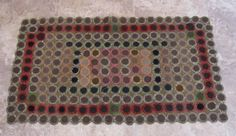 Antique Pennsylvania Dutch Penny Rug Wools Berks County           ...~♥~