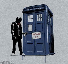 The Doctor Is In T-Shirt Designed by RebelArt