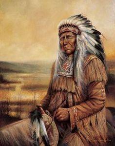 Western Art Paintings | Native American Indian Art Prints Chief Western Decor