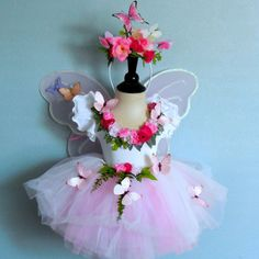 Fairy costume -Flock of Butterflies -  Flower Fairy - children's size 6 to 8  Bella looks really  lovely in this  great for photo shoot