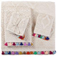 Jacquard Pompoms Towel | ZARA HOME United States of America