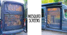 camp acampar Mosquito-Screens-Ford-Transit-Van-(He - Van Conversion Build, Diy Van Conversions, Camper Van Conversion Diy, Auto Camping, Aire Camping Car, Camper Diy, Build A Camper Van, Iveco Daily 4x4, Ford Transit Conversion