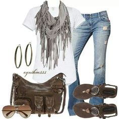 Cute Jeans, cute bag and nice shirt....that's all that matters