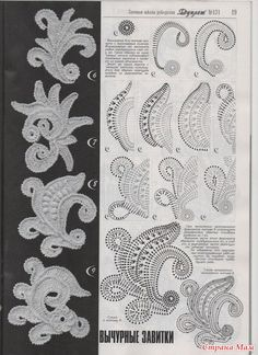 Irish lace drawings hollow curls - Crochet fun - fun blog crocheted