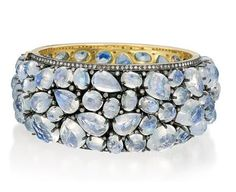 Cuff with diamonds and moonstone by Rina Limor