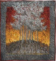 Felted picture Silver Maple by Lorraine Roy