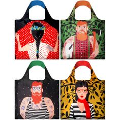 LOQI reusable bag cool people collection | hardtofind.