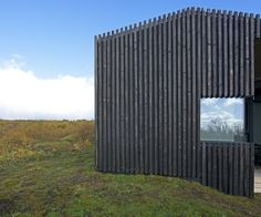 PK Arkitektar s Icelandic cottages have burnt timber cladding