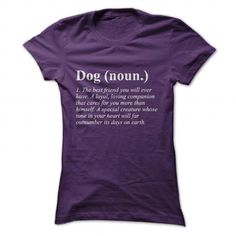 Dog Definition T Shirts, Hoodies. Check price ==► https://www.sunfrog.com/Pets/Dog-Definition-Purple-Ladies.html?41382 $19