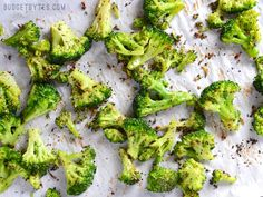 Roasting broccoli is made faster and easier with the use of precut frozen broccoli florets. Oven Roasted Frozen Broccoli is an easy side dish for any meal!