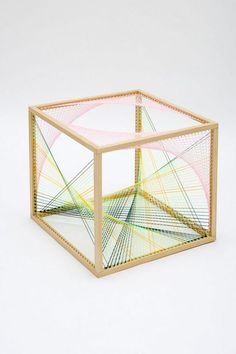 Australian artist Nike Savvas recently premiered many of her new works in a solo exhibition, entitled Liberty and Anarchy, at Leeds Art Gallery in the UK. - Geometric Sculptures Formed with Mathematical Equations Geometric Sculpture, Sculpture Art, Leeds Art Gallery, Arte Linear, 3d Modelle, Math Art, Thread Art, Australian Artists, Art Object