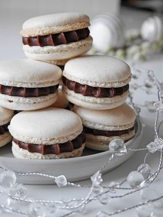 Nine Husk den her! Xmas Food, Christmas Sweets, Christmas Cooking, Bagan, Macarons, Fancy Cookies, My Dessert, Candy Recipes, Food Cakes