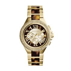 @Overstock - Michael Kors Women's MK5901 'Camille' Two Tone Tortoise Watch - This beautiful Michael Kors MK5901 womens analog quartz chronograph watch features a tortoise dial, a glitzed bezel, and a two-tone band.  http://www.overstock.com/Jewelry-Watches/Michael-Kors-Womens-MK5901-Camille-Two-Tone-Tortoise-Watch/9188278/product.html?CID=214117 $216.74