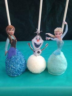 Bevroren Cake POP's Elsa Anna en Olaf Cake POP's door BangPOPshop