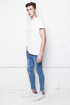 Liquor n Poker - Hendricks super stretch skinny jeans in light blue stonewash