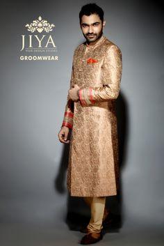 Groom Wear - Groom Wear Photos, , Gold Color, Groom Sherwani, Designer Groom Wear, Outfit Shots pictures.