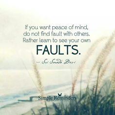 See Your Own Faults - Sri Sarada Devi