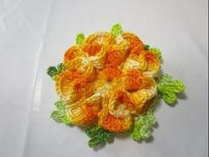 Crochê - Flor para aplicação nº 3 - Tutorial - Parte Única - YouTube