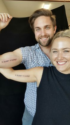 Lovely couples tattoo. Coordinates of where they first met