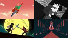 Airbnb 'Live in the movies' on Behance
