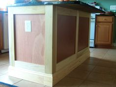 Kitchen Island Update kitchen remodel, island update. adding trim, and legs, to make it