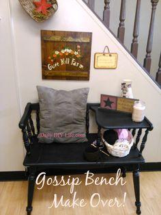 Gossip Bench Make Over! - A Trash to Treasure Story!