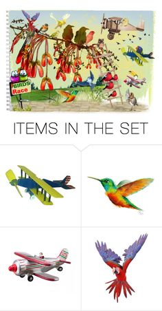 """Birds"" by pepitarita ❤ liked on Polyvore featuring art"