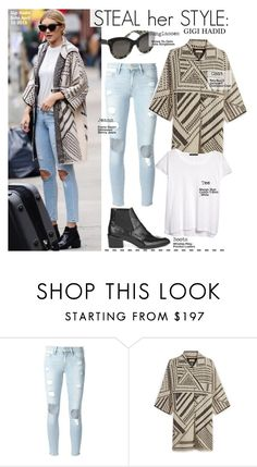 """""""Steal Her Style-Gigi Hadid"""" by kusja ❤ liked on Polyvore featuring Krewe, Frame Denim, Tory Burch, MANGO, Stealherstyle, celebstyle and gigihadid"""