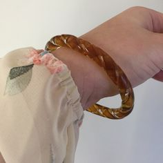 Brown glass bangle Blown glass bangle Jewelry Bracelets